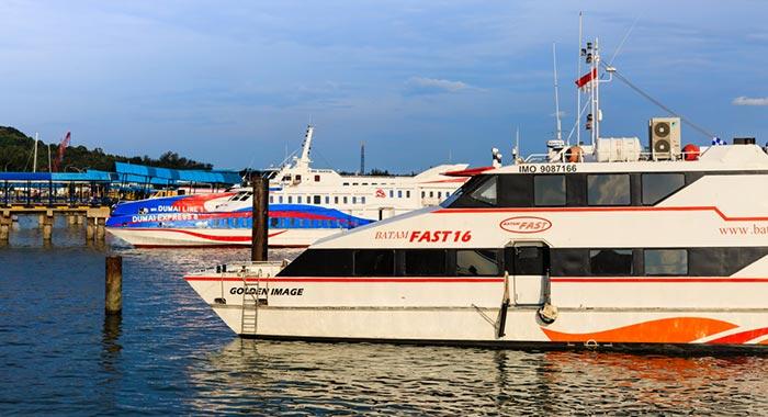 싱가포르에서 바탐 페리로 이동