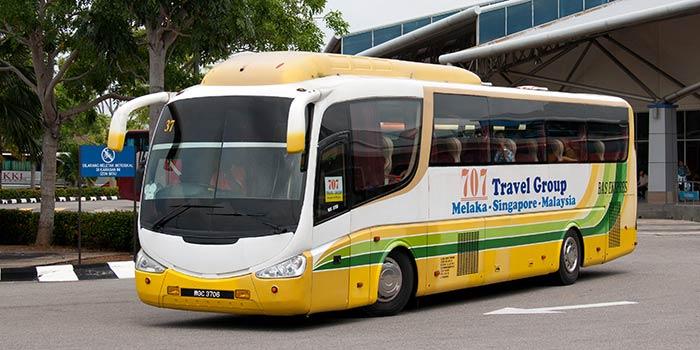 싱가포르에서 말라카 버스로 이동