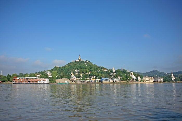 만달레이에서 바간 보트로 이동