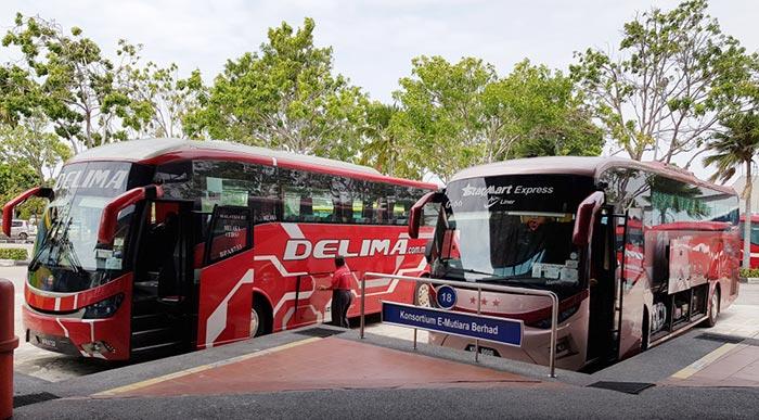 쿠알라룸푸르에서 말라카 버스로 이동
