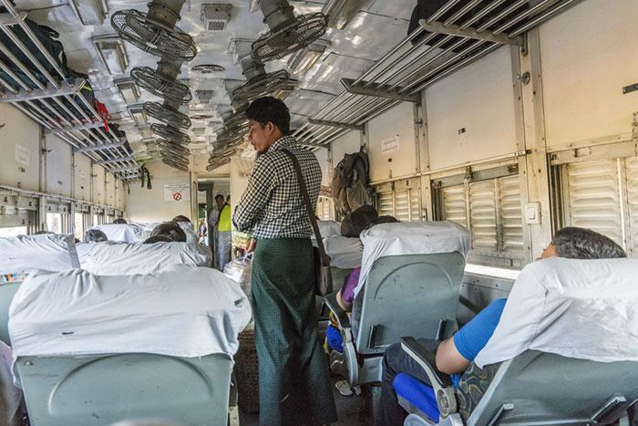 만달레이에서 바간 기차로 이동