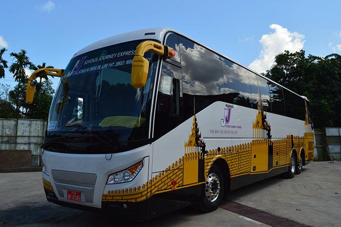 Автобус из Янгона в Мандалай