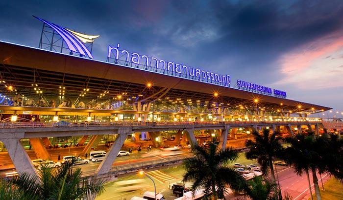 방콕에서 양곤 비행기로 이동