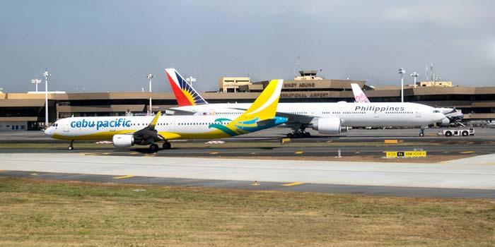 마닐라에서 두마게테 비행기로 이동
