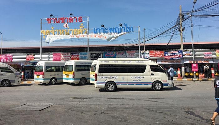페낭에서 방콕 밴으로 이동