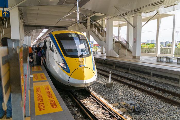페낭에서 이포 기차로 이동