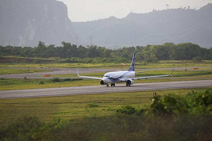 방콕에서 코란타 비행기로 이동