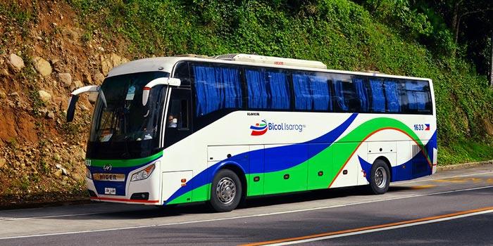 마닐라에서 나가 버스로 이동