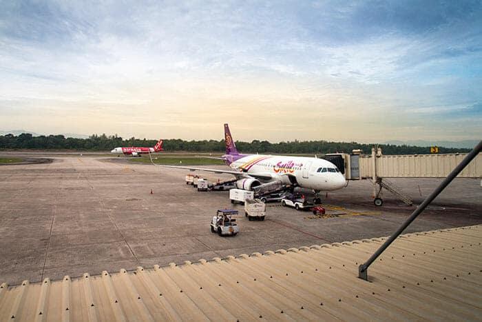 방콕에서 핫야이 비행기로 이동