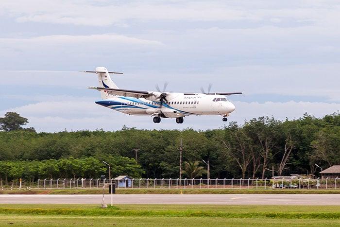 방콕에서 뜨랏 비행기로 이동