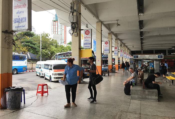 방콕에서 뜨랏 미니버스 혹은 밴으로 이동