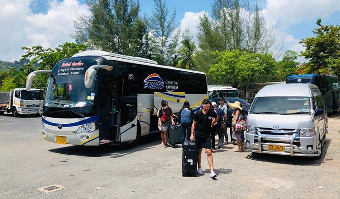 수랏타니에서 크라비 버스로 이동