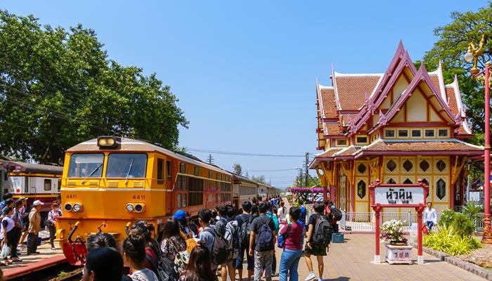 후아힌에서 코사무이 기차 그리고 페리로 이동